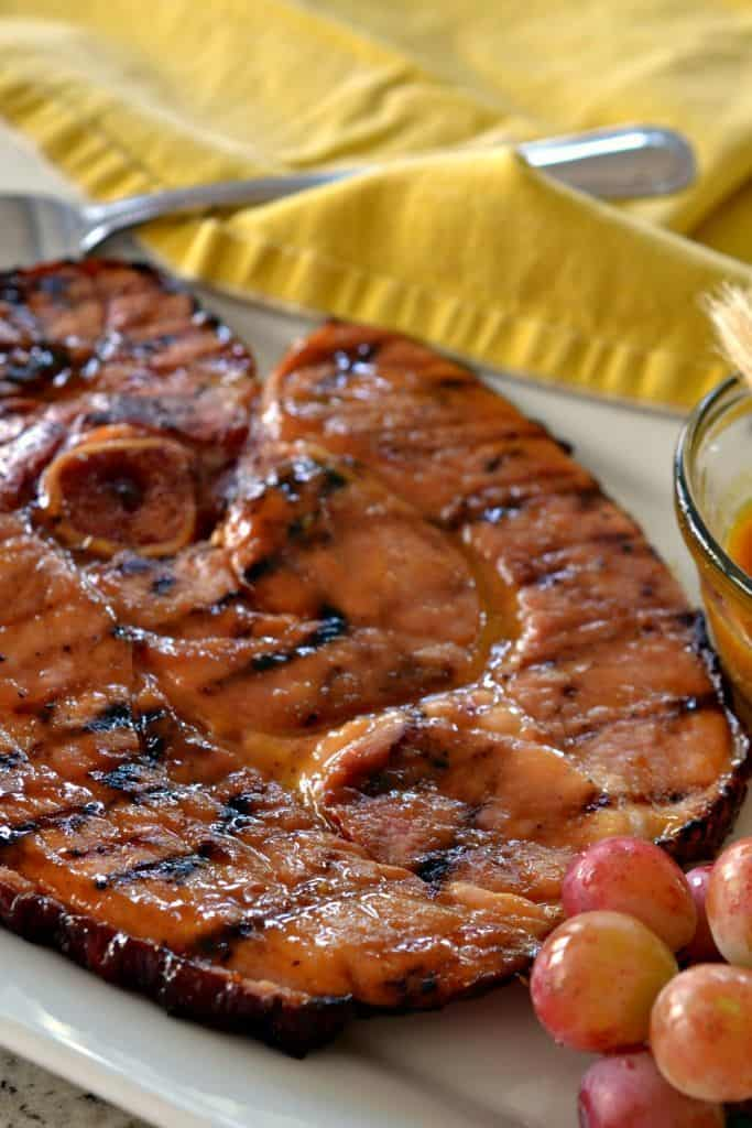 Ham Steak with Honey Mustard Glaze  Small Town Woman