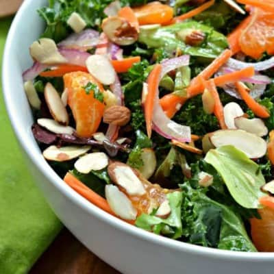 Kale Salad with Ginger Vinaigrette