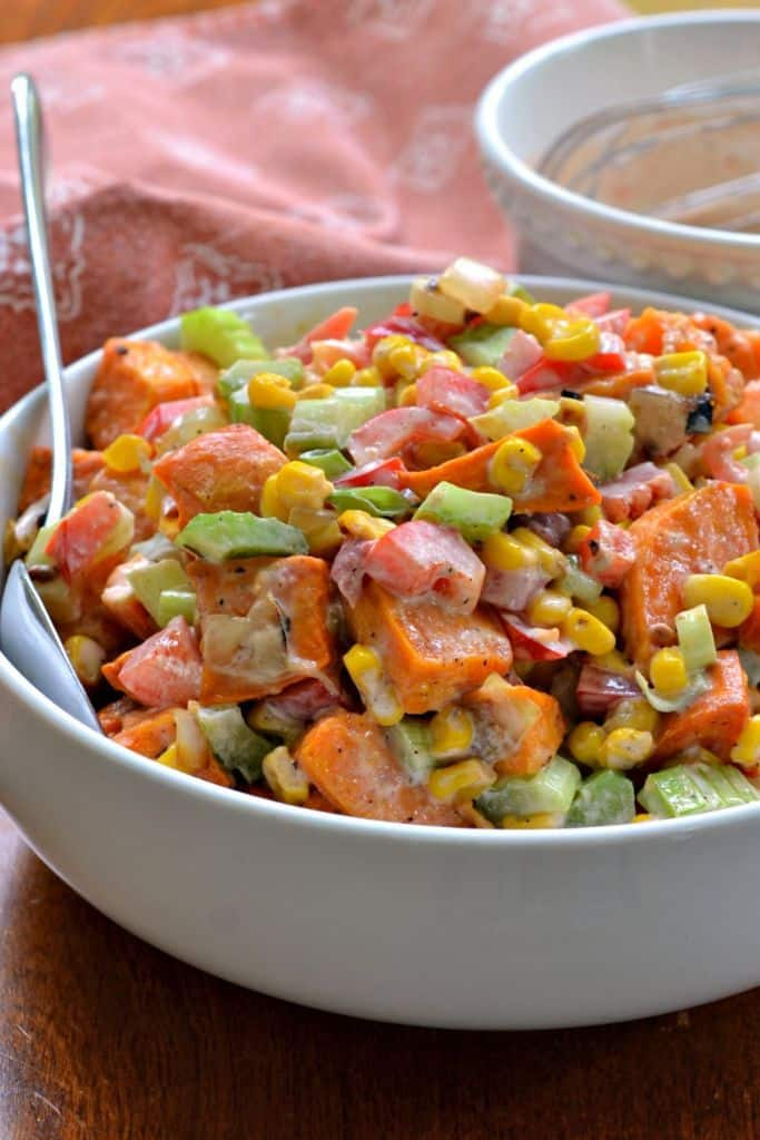 Sweet Potato Salad Recipe is a perfect summer salad to serve at BBQs and picnics