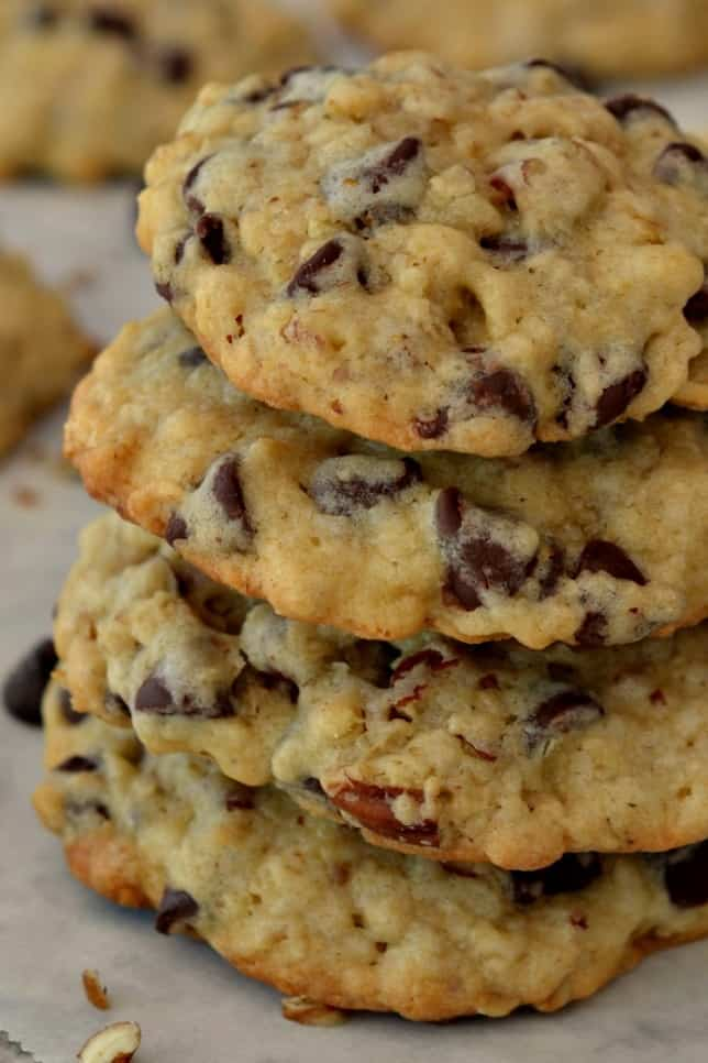Cowboy Cookies are sweet cookies packed with chocolate chips, oatmeal, and walnuts