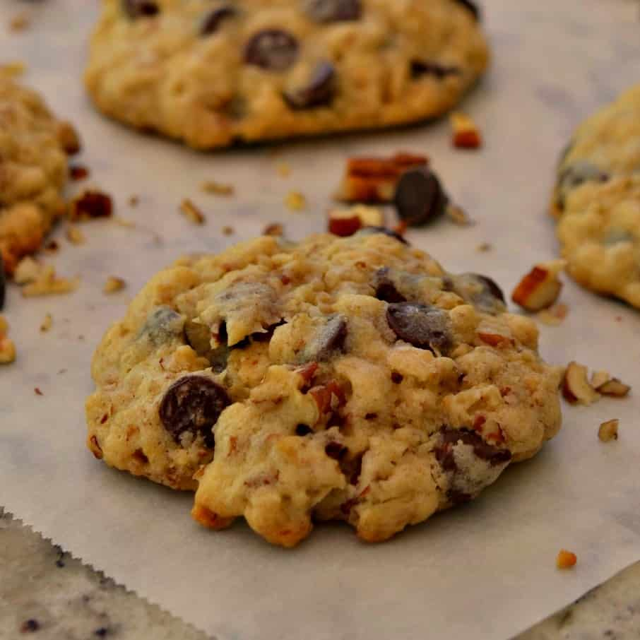 Texas Cowboy Cookies are packed with chocolate chips, walnuts, and oatmeal