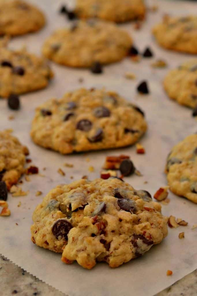 Crisp edges and gooey insides, these cowboy cookies are a deliciously sweet treat