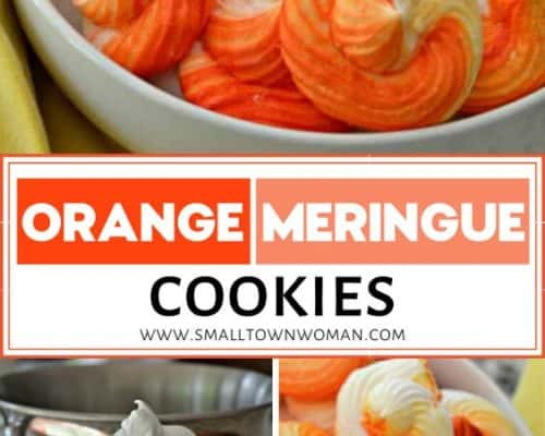 Orange Meringue Cookies
