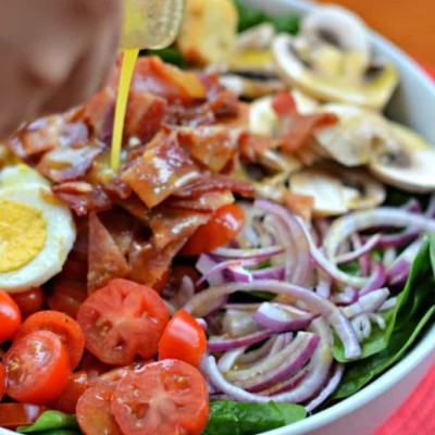 Spinach Salad with Warm Honey Mustard Vinaigrette