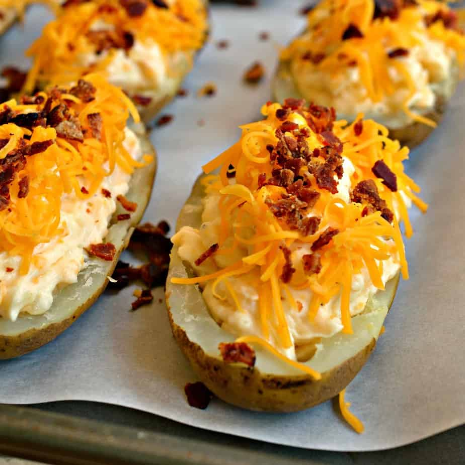These family friendly Twice Baked Potatoes are made with many ingredients that you may already have on hand.