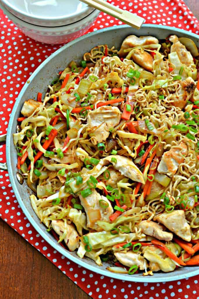 This Chicken Chow Mein Recipe is an easy and delicious stir fry recipe that's perfect for family dinner.