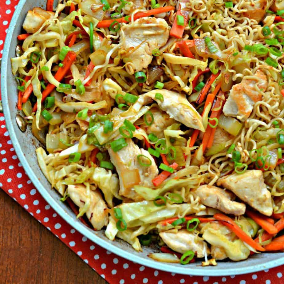 How to Make Chicken Chow Mein at home! This delicious Chow Mein recipe will easily replace your favorite takeout.