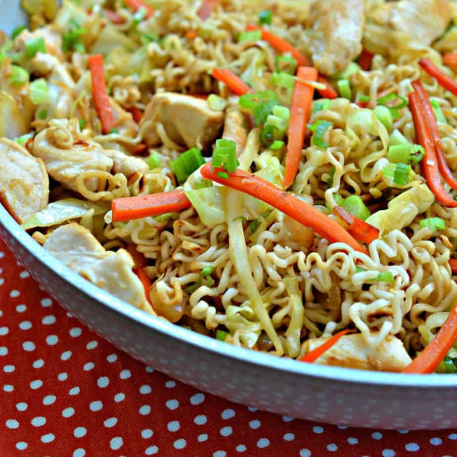 Homemade Chicken Chow Mein is so flavorful and perfect for an at-home Chinese night.