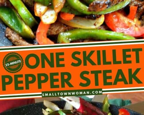 One Skillet Steak and Peppers