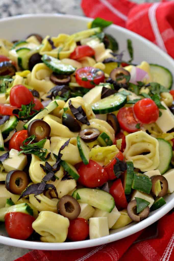 Cold Tortellini Pasta Salad