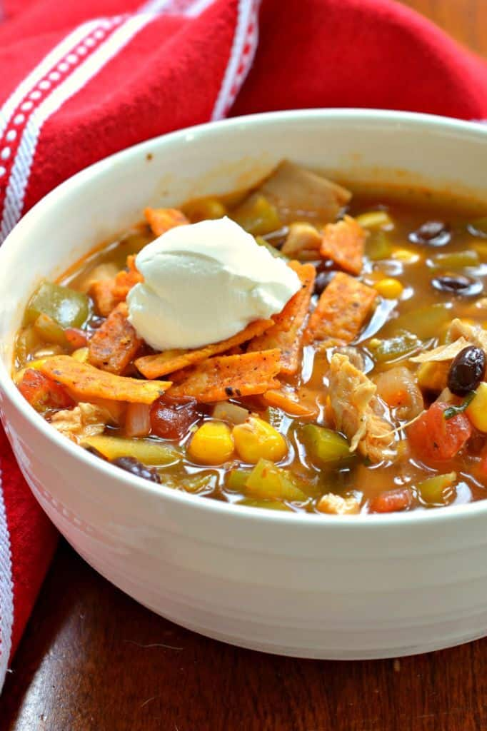 Chicken Enchilada Soup is an easy Fall recipe that's packed with spice and flavor