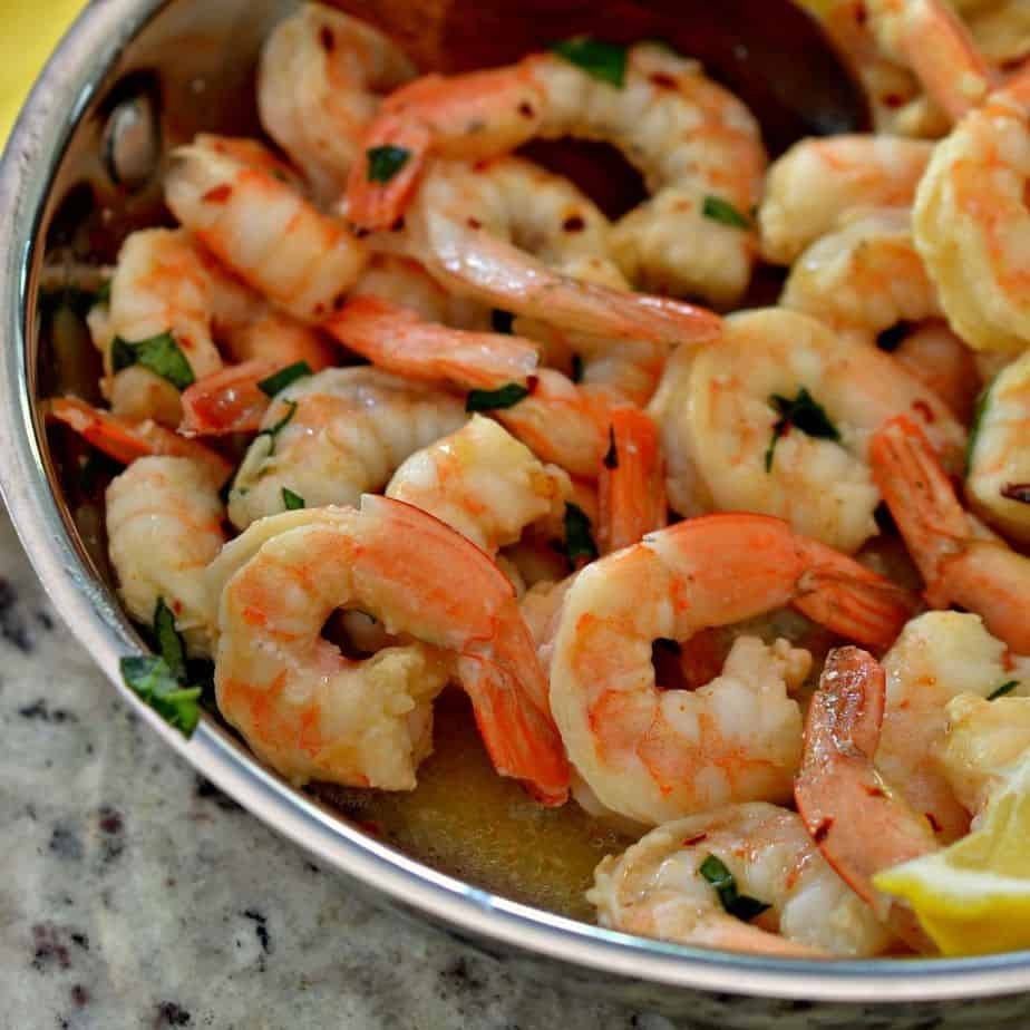 Lemon Garlic Butter Shrimp is fresh cooked in garlic butter and flavorful lemon juice