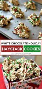White Chocolate Peanut Holiday Haystacks