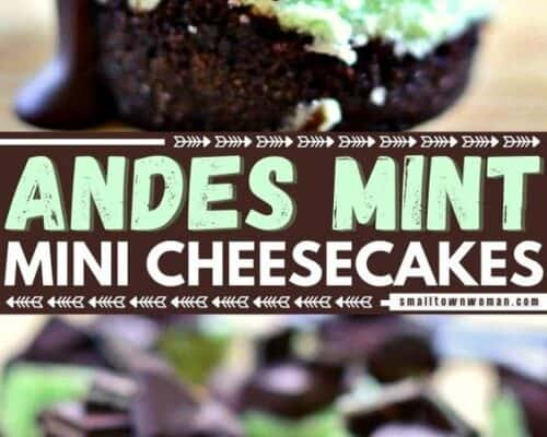 Andes Mint Mini Cheesecakes