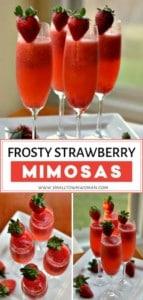 Easy Frosty Strawberry Mimosas