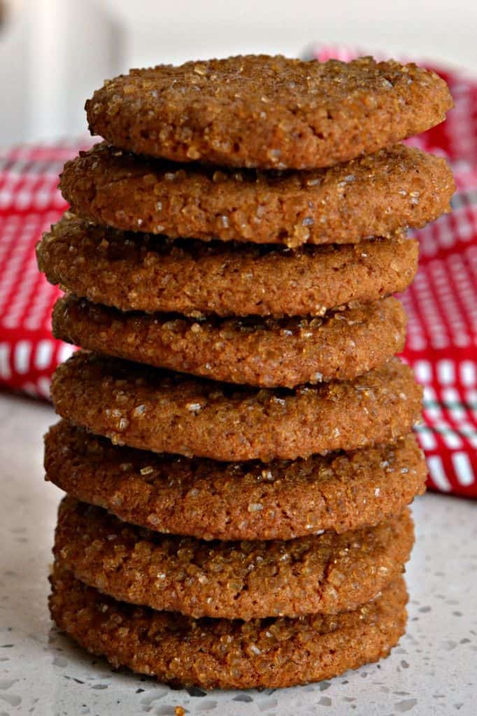 Old Fashioned Ginger Snap Cookies are perfect for the holidays, packed with festive spices