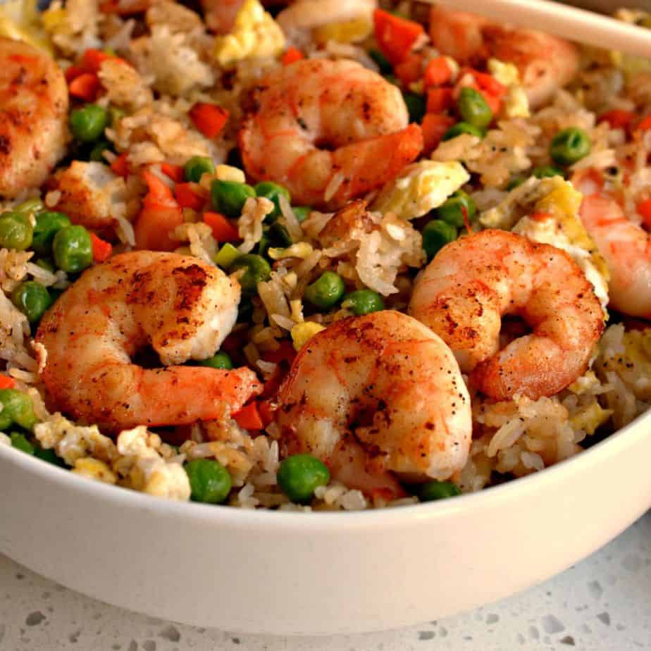 Shrimp Stir Fry with Rice