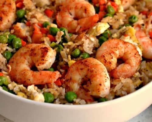 Homemade Shrimp Fried Rice