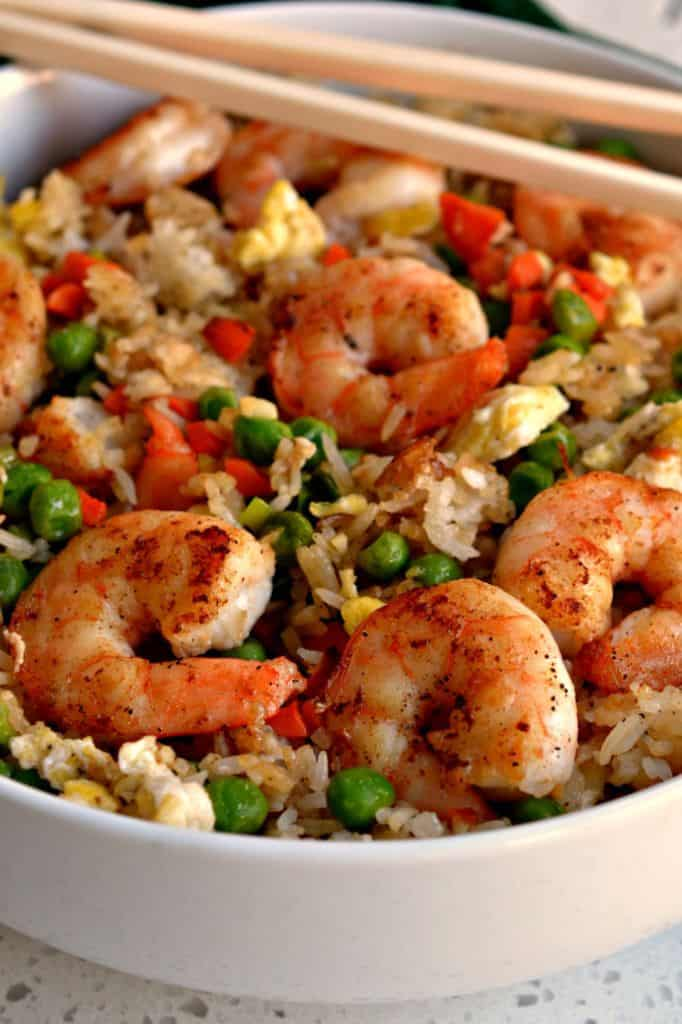 Make your own shrimp fried rice at home with this easy and flavorful fried rice recipe