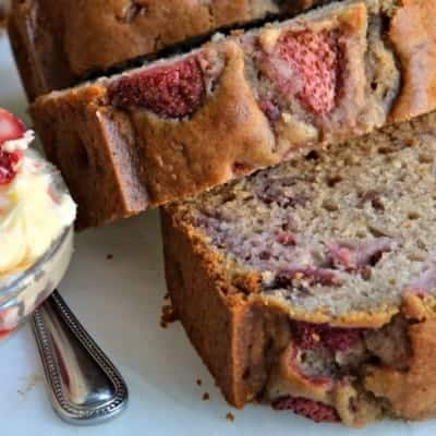 Strawberry Bread with Whipped Strawberry Butter