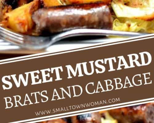 Sweet Mustard Cabbage and Brats