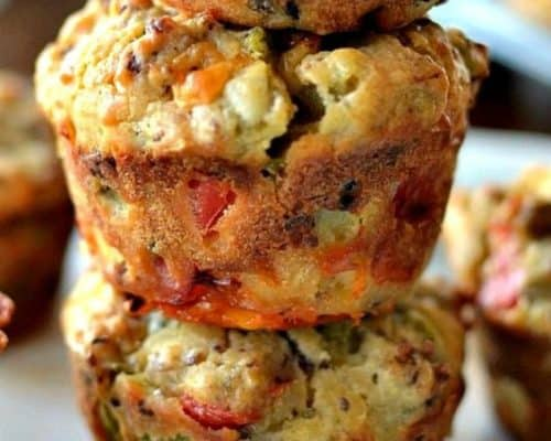 On-the-Go Sausage Cheddar Breakfast Muffins