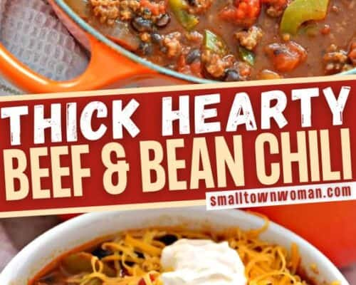 Thick Hearty Beef and Bean Chili