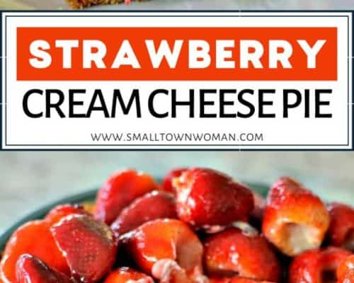 Strawberry Cream Cheesecake Pie