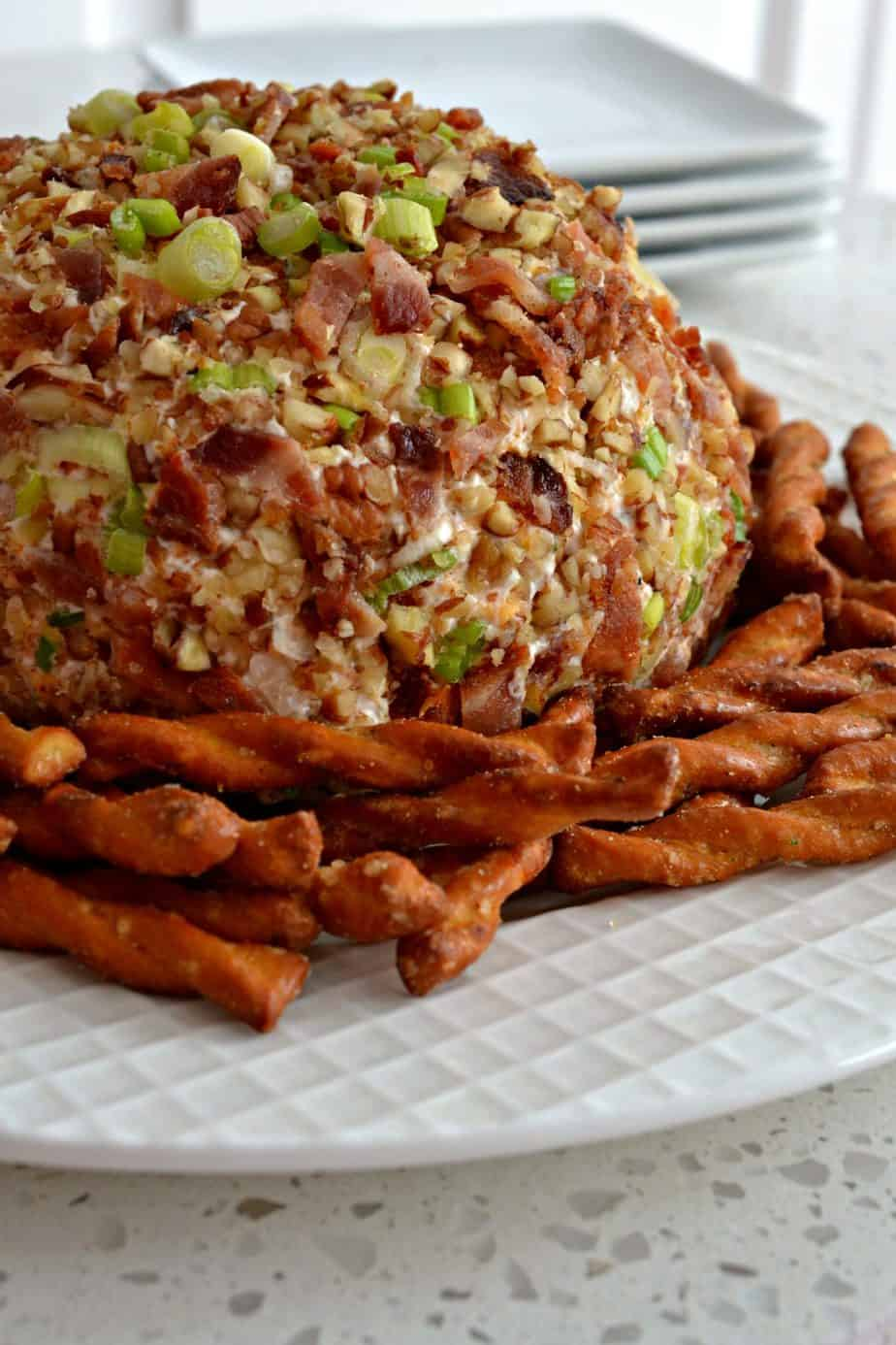 This Bacon Ranch Cheese Ball will be the highlight of your next party