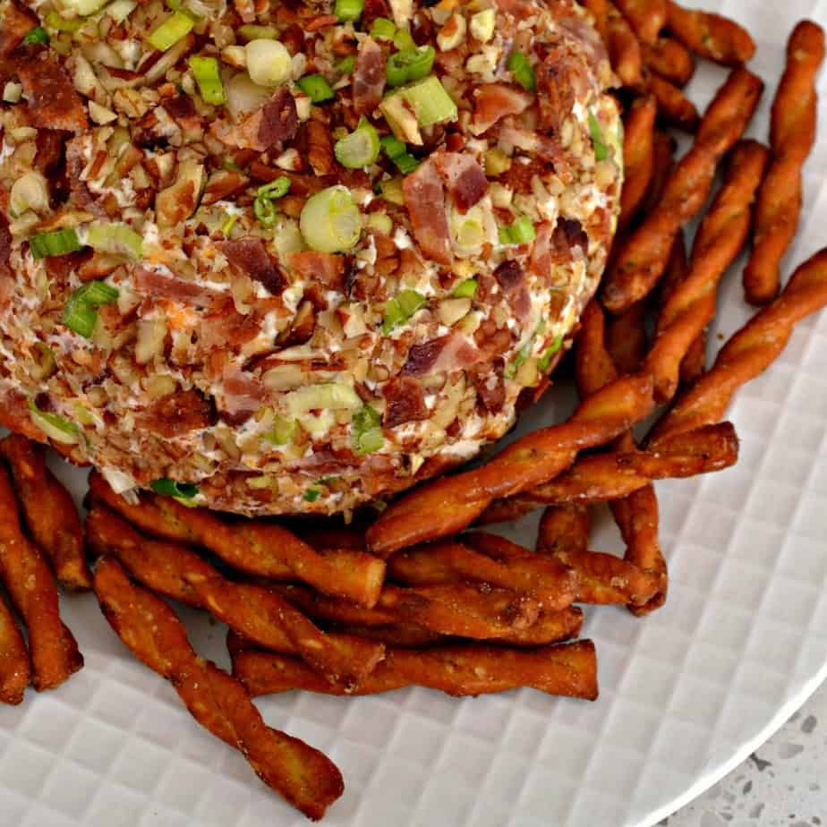 Flavor packed bacon ranch green onion cheese ball