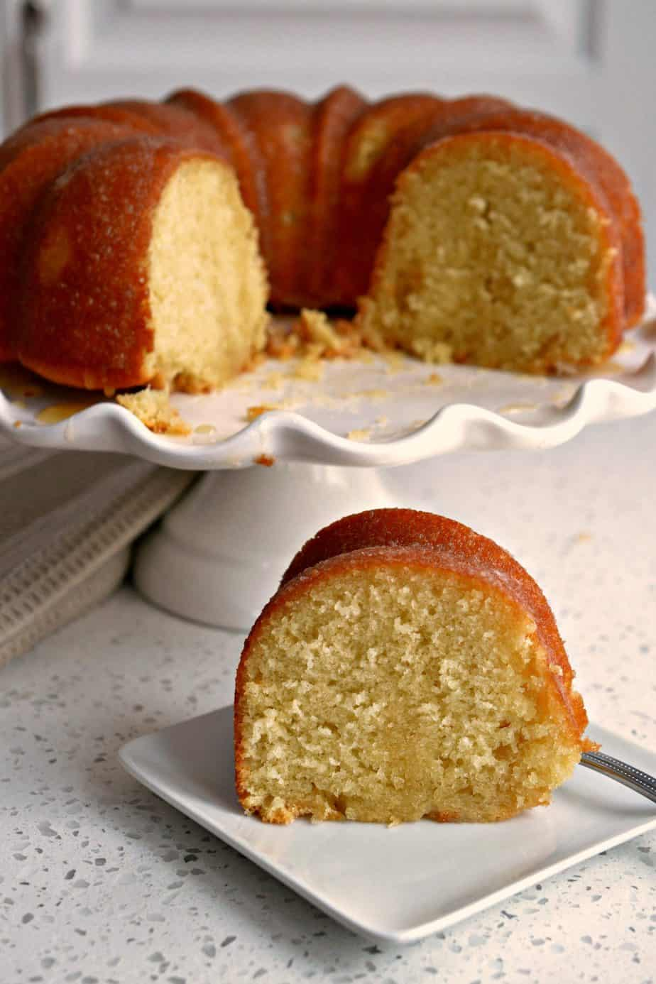 Kentucky Butter Cake is a super moist vanilla butter cake