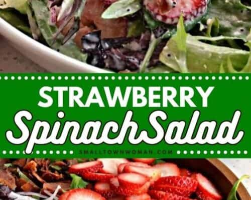 Strawberry Bacon Spinach Salad