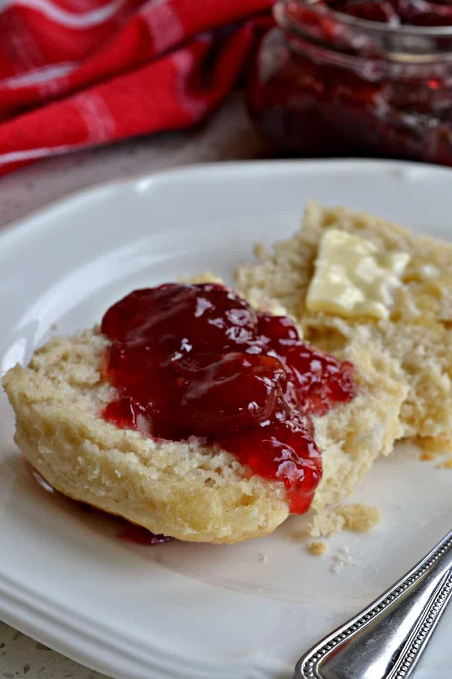 These super easy 7 Up Biscuits are made in about ten minutes with four ingredients. They are so fluffy and buttery.
