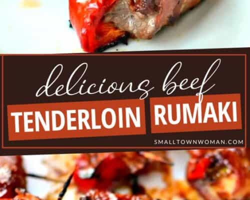 Beef Tenderloin Red Pepper Rumaki