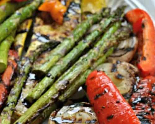 Grilled Vegetables with Balsamic Sauce