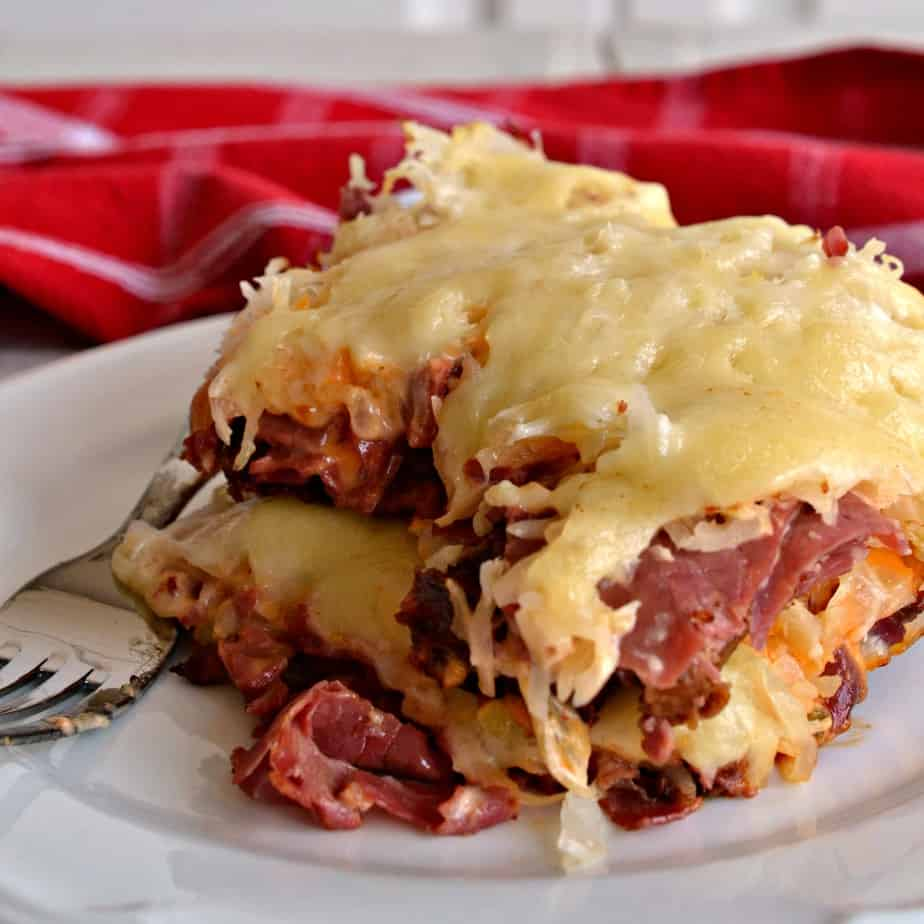 This delectable Reuben Casserole brings that classic sandwich taste together in an easy casserole recipe.