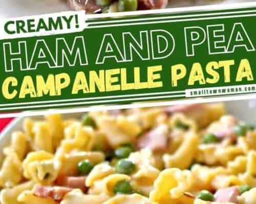Ham and Pea Campanelle Pasta