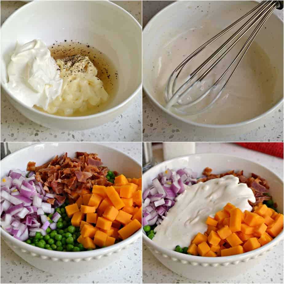 How do you make Creamy Pea Salad