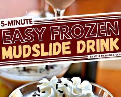Five Minute Frozen Mudslide Cocktails