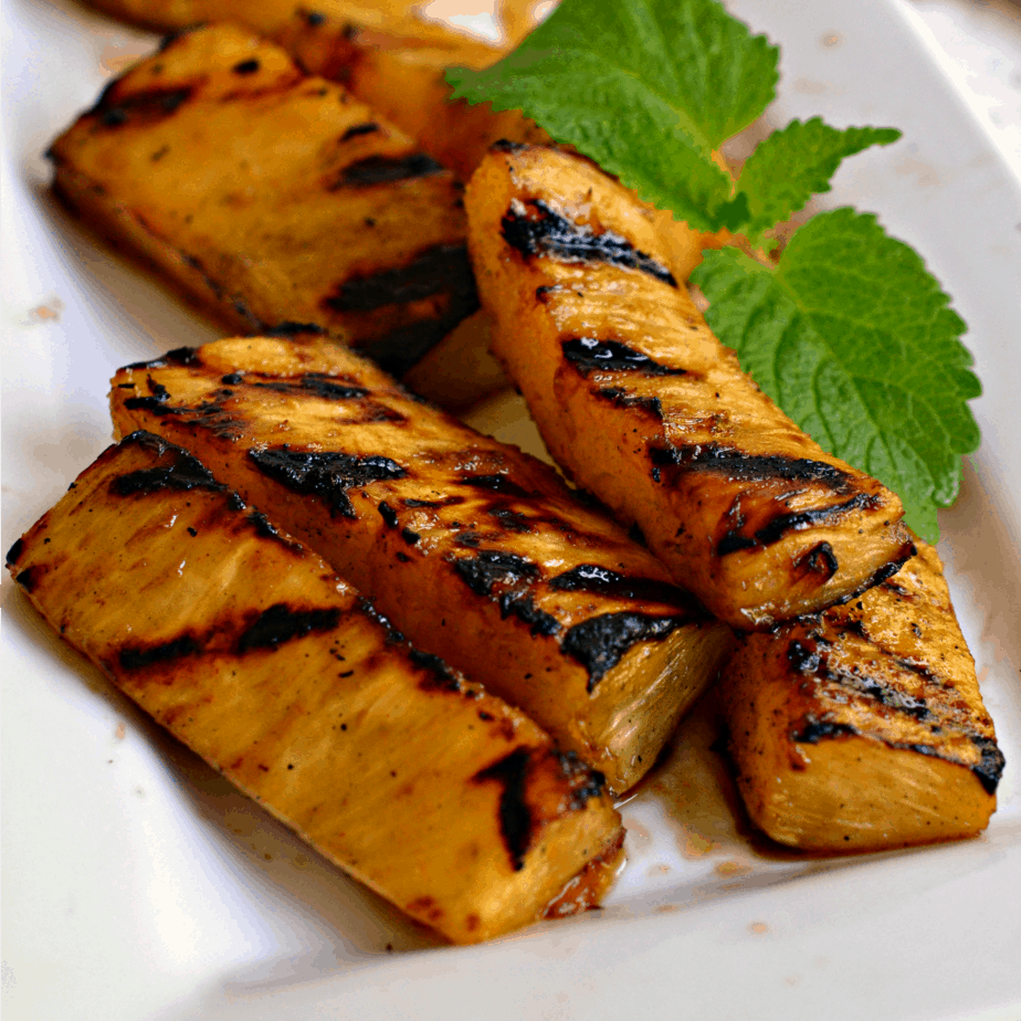 This Grilled Pineapple is great as a side dish, dessert (with a scoop of ice cream) or even in salsa.