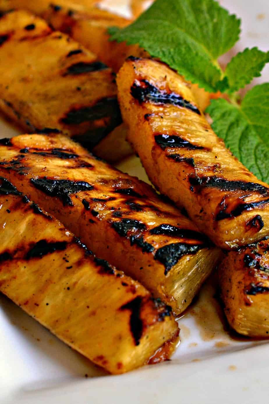 Grilled pineapple is a delectable treat that the whole family can enjoy.
