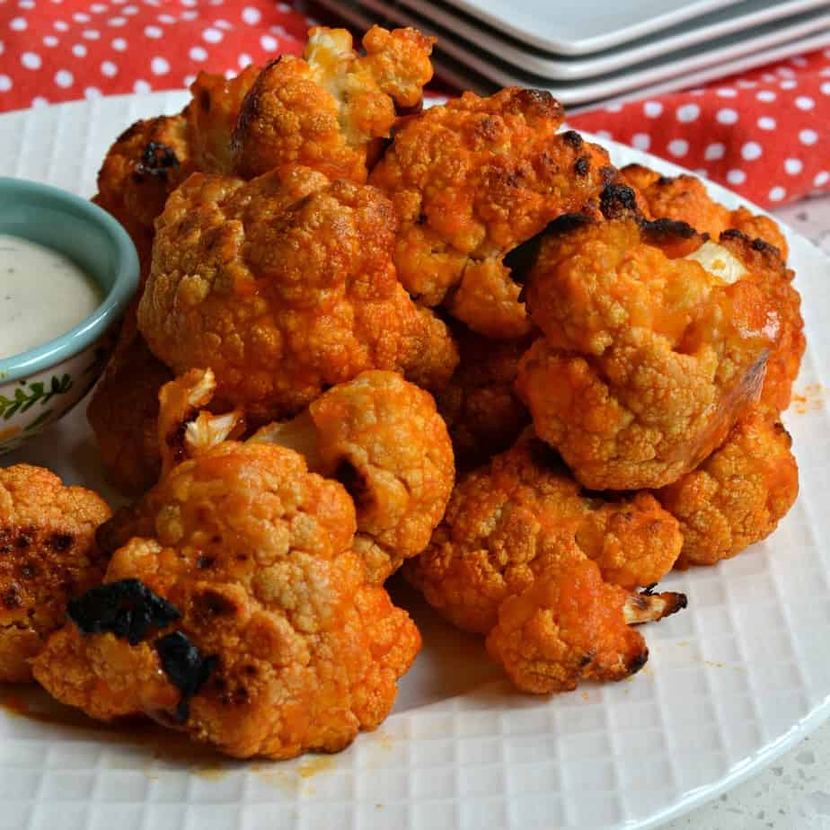 Bake up a batch of this Buffalo Cauliflower for game day and movie night.
