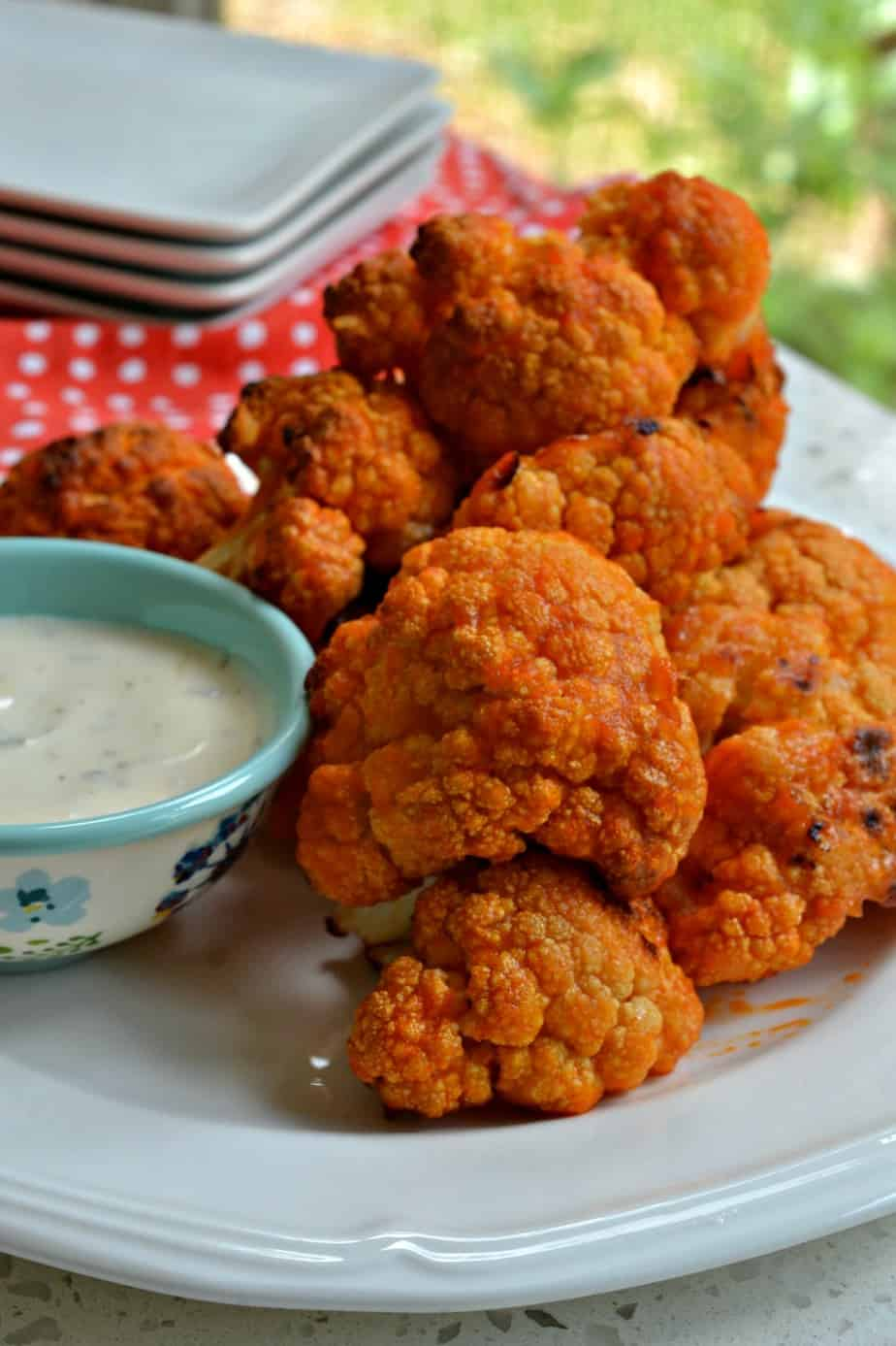 These delectable buffalo cauliflower morsels are just as tasty as buffalo chicken with a lot less fat and calories.