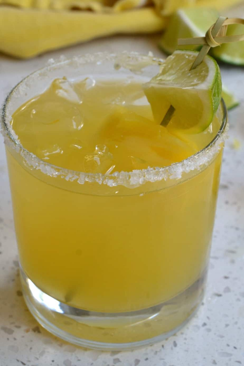 Party perfect delicious refreshing Pineapple Margaritas made two ways both in less than five minutes.
