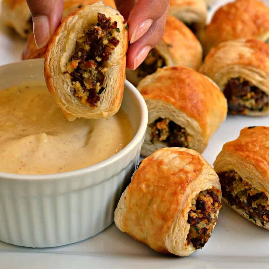 Delicious and easy Sausage Rolls are perfect for your game day, movie night or poker night.