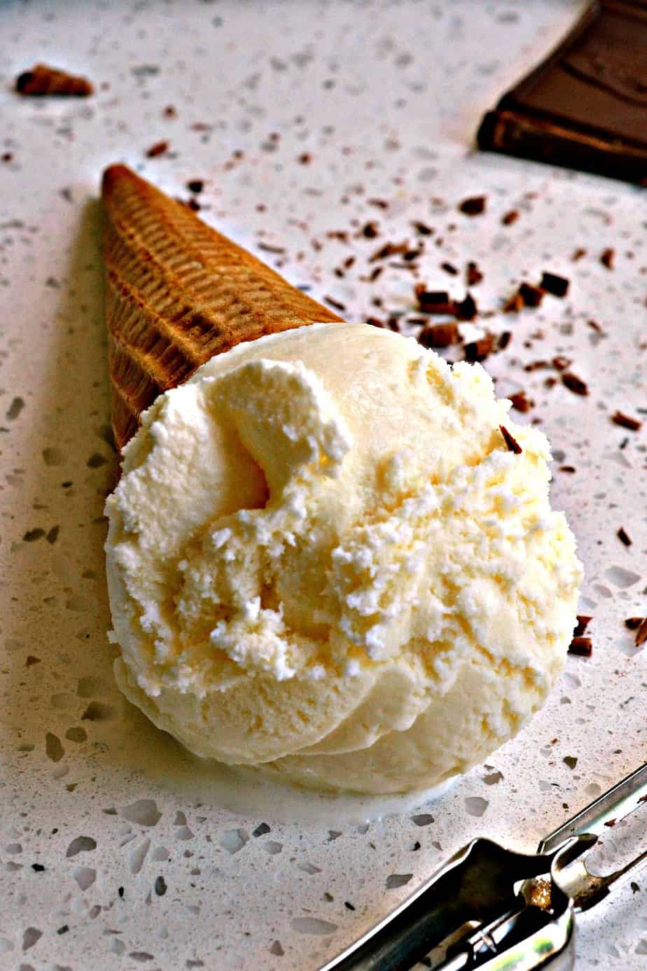 This smooth and creamy rich vanilla ice cream takes less than five minutes to prepare for the ice cream maker.