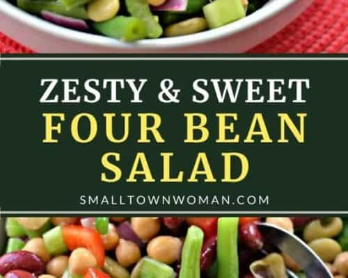 Zesty Sweet Four Bean Salad