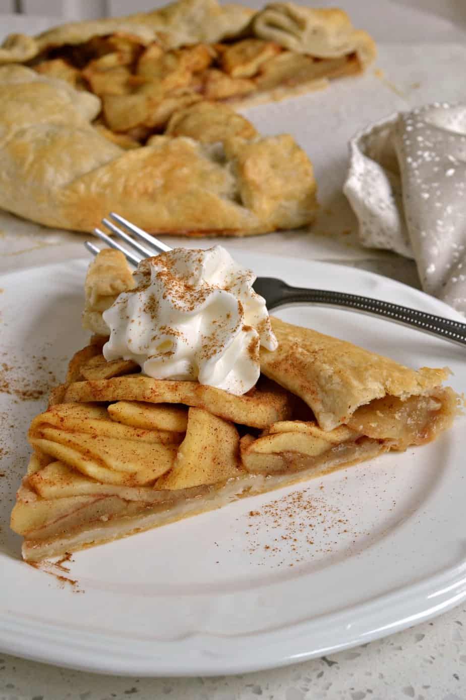 This scrumptious Apple Galette will get you in the mood for autumn with a four ingredient crust, apples, and fall spices.