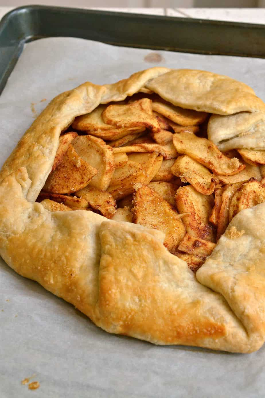 This delectable Apple Galette is equally as delicious as your favorite apple pie with a fraction of the work.