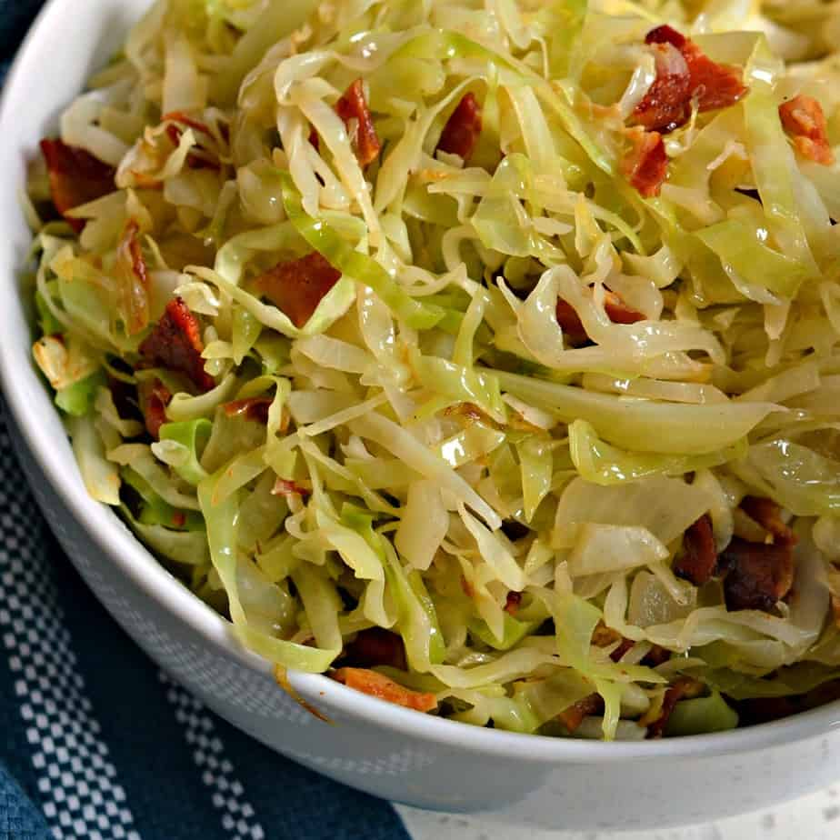 Southern Fried Cabbage is lightly seasoned and quick to come together making it a true family favorite.